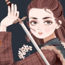 Fanart: Arya Stark - proceso. Un proyecto de Ilustración, Diseño de personajes, Ilustración digital e Ilustración de retrato de Paula Zamudio - 10.06.2019