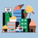 Ciudad de las oportunidades. Um projeto de Animação, Ilustração e Motion Graphics de Alberto Pozo - 12.06.2019