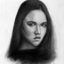 """Ayleen"" Retrato realista. Um projeto de Ilustração, Desenho a lápis, Ilustração de retrato, Desenho de Retrato e Desenho realista de Javier Ortiz - 17.06.2019"