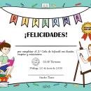 DIPLOMA DE GRADUACIÓN INFANTIL. Um projeto de Ilustração vetorial, Ilustração digital e Ilustração infantil de Isabel Umbría - 12.06.2019