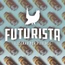 FUTURISTA. Un projet de Design , Illustration, Direction artistique, Conception de produits et Illustration numérique de Pablo Fernández Tejón - 20.06.2019