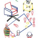MY BARRIO x unamesa. A Design, Illustration, Fine Art, Interior Design, Drawing, and Artistic drawing project by Elena López Lanzarote - 06.21.2019