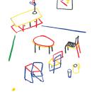 TODO EN SU SITIO. A Design, Illustration, Fine Art, Interior Design, Drawing, and Artistic drawing project by Elena López Lanzarote - 06.21.2019