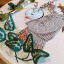 La chica del Banjo. Um projeto de Bordado e Ilustração têxtil de Bugambilo - 28.06.2019