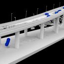 Colapso de puente sobre agua. Un proyecto de 3D, VFX y Postproducción audiovisual de Juan Cubero Armendariz - 06.07.2019