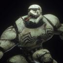 Venom. Um projeto de 3D, Comic, Cinema, Ilustração digital, Modelagem 3D, Concept Art e Design de personagens 3D de Kevin Aliendres - 09.07.2019