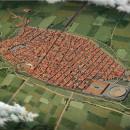 Pompeya antes de la erupción. Un proyecto de 3D, Ilustración digital e Infografía de Román García Mora - 15.02.2019