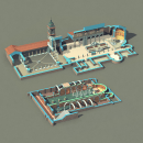 San Clemente al Laterano. Un proyecto de 3D, Ilustración digital e Infografía de Román García Mora - 14.12.2017