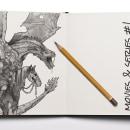 Movies and series #1. Um projeto de Design, Ilustração, Design de personagens, Desenho e Pintura em aquarela de Aitor Angelats - 24.07.2019