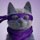 Champion Cat Maestro. Um projeto de 3D, Animação de personagens, Animação 3D, Modelagem 3D e Design de personagens 3D de Juan Paulo Mardónez - 19.08.2019