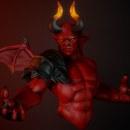 Demon. Un progetto di 3D, Moda, Progettazione di giochi, Scultura, Animazione 3D, Videogiochi, Arte concettuale , e Character design 3D di Andres Rendón - 21.08.2019