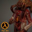 Half Life - Fan Art. Un progetto di 3D, Progettazione di giochi, Scultura, Modellazione 3D , e Character design 3D di Andres Rendón - 16.07.2019