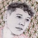 Mi Proyecto del curso: Creación de retratos bordados (Lucio). Um projeto de Ilustração, Ilustração de retrato, Bordado e Ilustração têxtil de Bugambilo - 21.08.2019