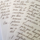 Carta. Tinta de nogalina sobre papel de dibujo.. Um projeto de Caligrafia de Jose Bermejo - 26.08.2019