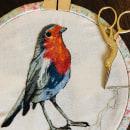 Mi Proyecto del curso: Pintar con hilo: técnicas de ilustración textil. Um projeto de Artesanato e Bordado de María Antonella Fant - 30.08.2019