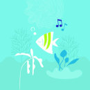 Poster personal fest music. Um projeto de Ilustração, Eventos, Desenho, Design de cartaz e Ilustração digital de Carolina García Ávila - 20.05.2019