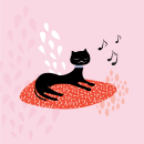 Jazz cat. Um projeto de Design, Ilustração e Ilustração digital de Carolina García Ávila - 17.01.2017