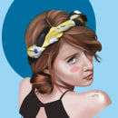 Monica / Pintura Digital. A Illustration, and Portrait illustration project by Erick Aguilera - 09.16.2019