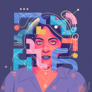 Colour rules everything around you. A Graphic Design, Digital illustration, T, and pograph project by Miguel Bucana - 09.09.2019