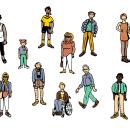 Valéncia - Character & Map Design . Un proyecto de Diseño de personajes, Animación de personajes, Animación 2D e Ilustración digital de Felipe Web - 11.02.2019