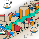 Como llegar a la playa en València. Un proyecto de Animación 2D e Ilustración digital de Felipe Web - 20.09.2019