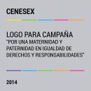 """CENESEX Logo para Campaña """"POR UNA MATERNIDAD y PATERNIDAD EN IGUALDAD DE DERECHOS Y RESPONSABILIDADES"""". Um projeto de Direção de arte e Design de logotipo de Alejandro Cervantes - 05.10.2014"""