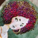 Serie Chicas Nature - Bordado sobre papel . Un projet de Illustration, Character Design, Broderie et Illustration textile de Sara Nietto - 25.09.2019