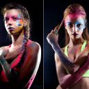 Body paint Caretas maquillaje profesional 1. Un proyecto de Diseño, Pintura, Tipografía, Caligrafía, Arte urbano, Lettering y Creatividad de TECK24 - 26.09.2019