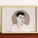 Mi Proyecto del curso: Creación de retratos bordados. Um projeto de Artes plásticas, Ilustração de retrato, Bordado, Costura e Desenho de Retrato de Lourdes Alonso Carrión - 30.09.2019