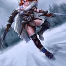 Barbarian Warrior Eude. Un proyecto de Diseño de personajes, Ilustración y Videojuegos de Rafa Flores Art - 03.10.2019