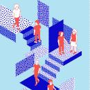Día Centro . Un progetto di Illustrazione e Illustrazione vettoriale di Brenda Battaglia - 22.10.2019