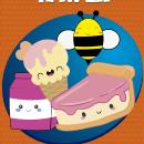 Projeto Final Kawaii - Refeição saborosa - Torta - Mel - Sorvete e Leite.. A Children's Illustration project by Wesley Nunes de Paiva - 10.24.2019