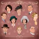 Downton Abbey. Un proyecto de Ilustración e Ilustración de retrato de Paula Jiménez Bueno - 29.10.2019