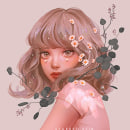 Daisy Drops. A Digital illustration, and Drawing project by Karmen Loh (Bearbrickjia) - 09.25.2019