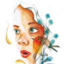 Mi hija: Retrato ilustrado en acuarela. A Illustration, Portrait illustration, Portrait Drawing, and Children's Illustration project by MCarmen - 11.21.2019