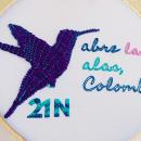 Abre las alas, Colombia. Um projeto de Bordado de Lina Montoya - 22.11.2019