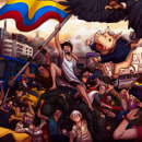 El cóndor ruge con el pueblo. Um projeto de Pintura, Desenho e Desenho artístico de Sebastian Valderruten Lopez - 21.11.2019