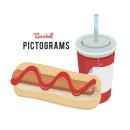Pictogramas en vector. Um projeto de Ilustração vetorial, Diseño de iconos, Diseño de pictogramas, Desenho e Ilustração digital de Rebeca Alonso Camino - 11.11.2015