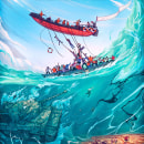 CINEXCUSA Festival de Cine. Um projeto de Ilustração, Direção de arte, Design de cenários e Ilustração digital de Christian Benavides - 12.12.2019