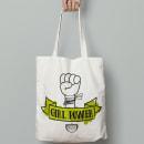 Girl Power Tote Bag. Un proyecto de Diseño gráfico e Ilustración de Cristina Ygarza - 16.12.2019