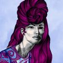 Eliza: Retrato con lápiz, técnicas de color y Photoshop. Un proyecto de Ilustración, Moda, Retoque fotográfico, Dibujo a lápiz, Ilustración digital, Ilustración de retrato y Dibujo de Retrato de Dahiana Peralta Marchena - 16.12.2019
