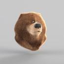Bear Groom con XGen de Maya . A 3D project by Martin Gonzalo Girgenti - 12.21.2019