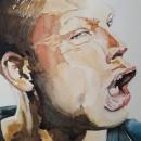 Un poco de mi trabajo personal. A Fine Art, Painting, Watercolor Painting, Portrait illustration, Acr, and lic Painting project by Ariel Stivala - 12.29.2019
