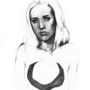 El vacío. Um projeto de Ilustração, Artes plásticas, Desenho, Ilustração de retrato, Desenho de Retrato, Desenho realista e Desenho artístico de Abril Cano Sanchez - 29.12.2019