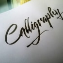 Caligrafía & Lettering 2019. A Calligraph, and Lettering project by Sebastián Ruiz Díaz - 01.08.2020