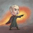 Jon Snow & Daenerys Targaryen - Caricaturas. Un proyecto de Diseño de personajes e Ilustración digital de Gerson Eric Pereira Rafael - 20.01.2020