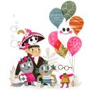 Gustavo the Shy Ghost. Un proyecto de Diseño, Ilustración, Diseño de personajes, Diseño editorial, Diseño gráfico, Caligrafía, Ilustración vectorial, Dibujo a lápiz, Dibujo, Ilustración digital, Dibujo artístico e Ilustración infantil de Flavia Z Drago - 14.07.2020