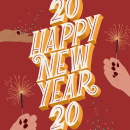 Happy New 2020. A Illustration, and Lettering project by Rosalia Flores Huertas - 12.30.2019