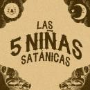 Las 5 niñas satánicas. . Um projeto de Design de personagens e Ilustração de Sergio Casasola - 01.02.2020