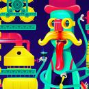 Fábrica fantástica y única / Fernet Branca. Un progetto di Design, Illustrazione vettoriale e Illustrazione digitale di Walter Conci - 04.02.2020